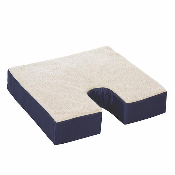 D4101 Fleece Gel Cushion with Coccyx Cut Out  18in x 16in x 3in