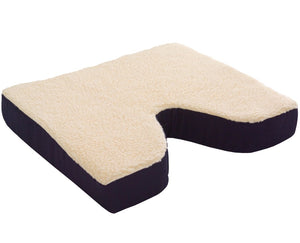 N1008 Fleece Covered Coccyx Cushion - 18in x 16in x 3in
