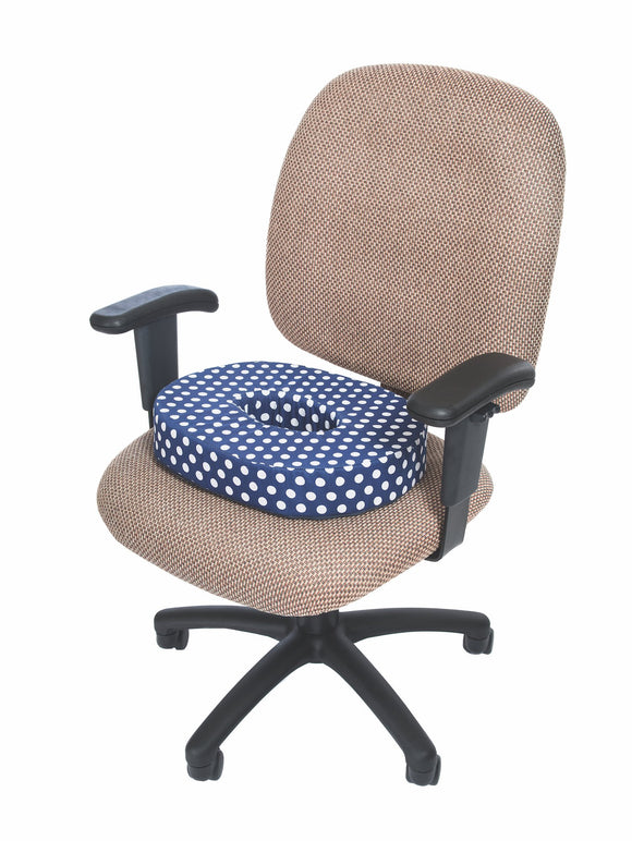 N8060N Designer Series Comfort Cushion - Navy Polka Dot