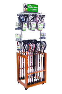SW726 Cane Display with Rolling Rack