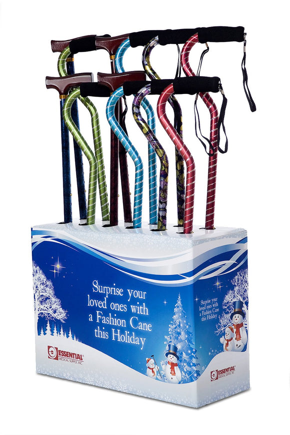 SW730-Holiday Full Color Cane Display with Holiday Theme