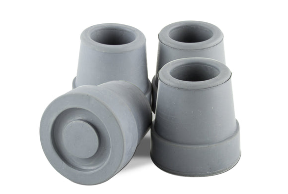 T50058G Quad Cane Tips 5-8in - Gray