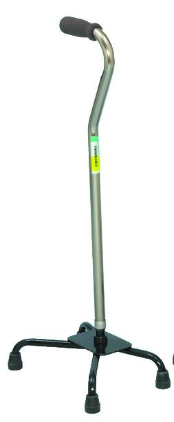 W1301S Small Base Quad Cane - Silver