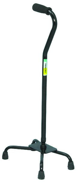 W1302BL Large Base Quad Cane - Black