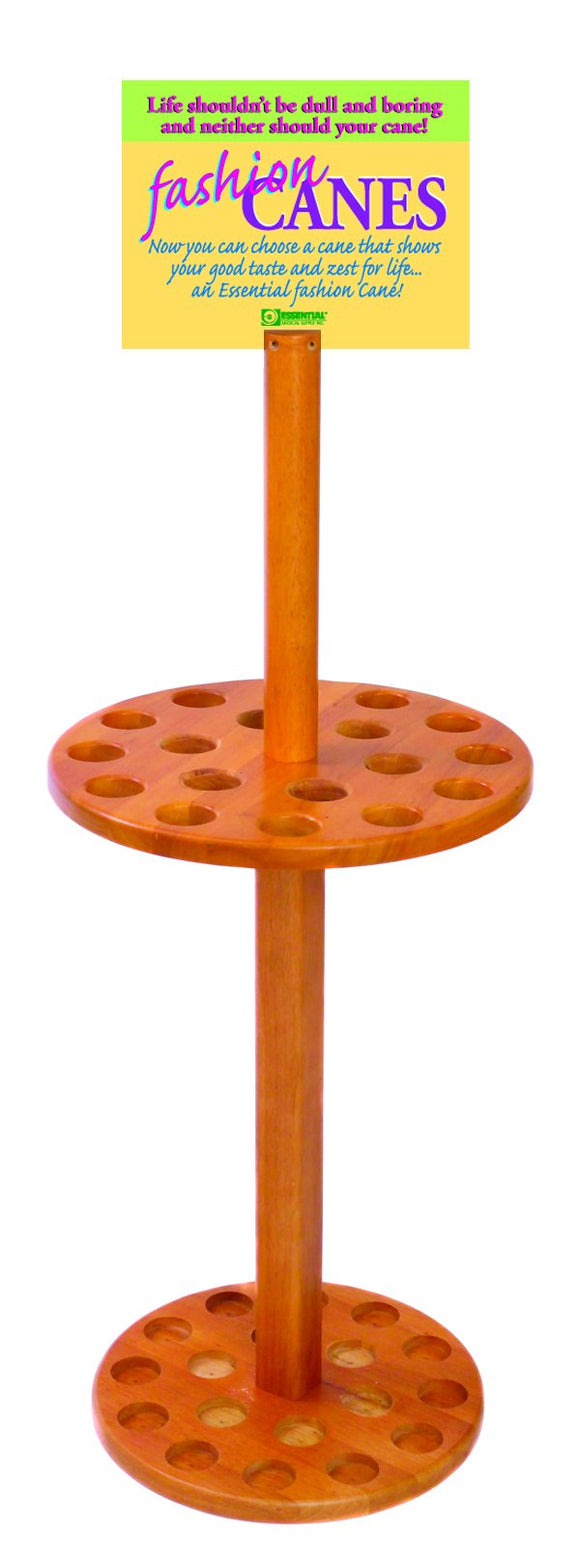 W1318 Deluxe Cane Display Stand - Wood