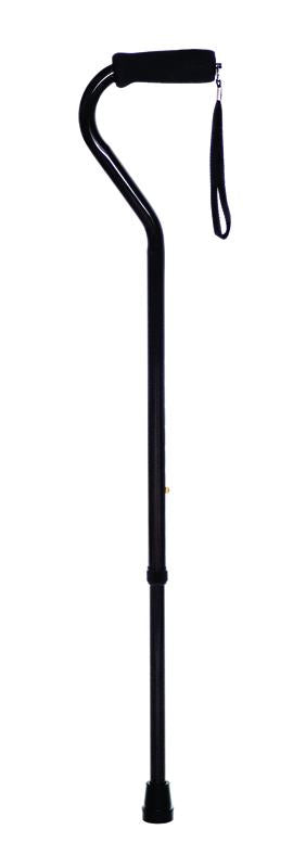 W1340BL Offset Handle Cane - Black