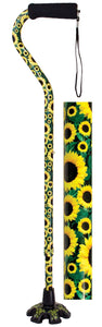 W1343F Couture Offset Cane with Matching Tip - Sunflower