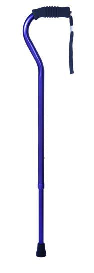 W1344A Offset Cane with Ribbed Handle - Amethyst