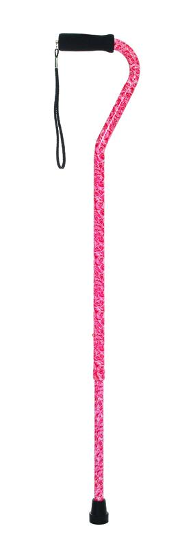 W1344B Offset Cane with Ribbed Handle - Bouquet