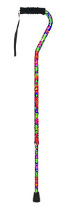 W1344P Offset Cane with Ribbed Handle - Paradise