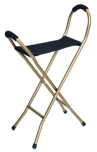 W1451 Folding Seat Cane - 4 Legs with Nylon Seat