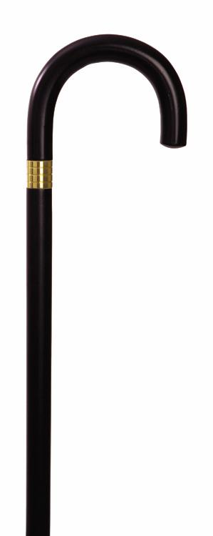W1539BK Endurance Wood Cane - Curved Handle - Black