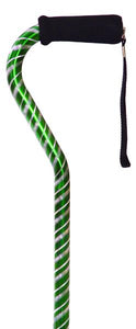 W1580G Laser Cut Offset Cane - Green