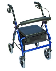 W1630B-12 The Blazer 4 Wheel Walker - Blue