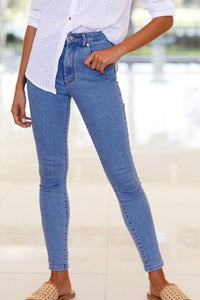 Balanla Euramerican High Waist  Blue Denim Pants