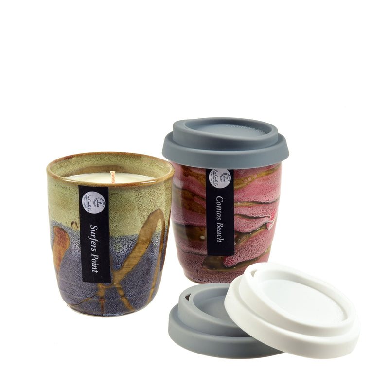 Grey-Blue-Light-Green-Handmade-Soy-Candle-Ceramic-Re-useable-and-Pink-Re-useable-Coffee-Cup-Grey-White-Coffee-Lids-Lux-Co-Margaret-River