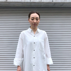 -〔WOMEN'S〕-  sana サナ   Big Shirt ( Broad For Towel Loom )