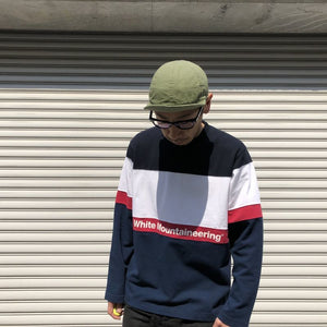 -〔MEN'S〕- WHITE MOUNTAINEERING ホワイトマウンテニアリング  CONTRASRED SWEATSHIRT