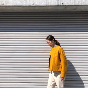 -〔WOMEN'S〕-   MY マイ    NO COLLAR FATIGUE JACKET
