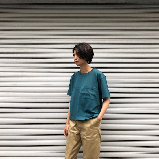 -〔WOMEN'S〕-  LIVING CONCEPT リビングコンセプト  BASIC POKET T SHIRT
