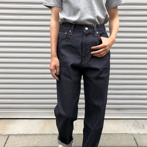 -〔WOMEN'S〕-  kha:ki カーキ  MIDRISE TAPERD DENIM PANT