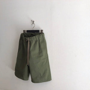 -〔MEN'S〕-  Nigel Cabourn  ナイジェルケーボン GYM SHORT PANT BUCKLE VINTAGE TWILL