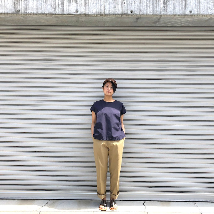 -〔WOMEN'S〕-  MY_ マイ  COTTON x SILK TACK BLOUSE