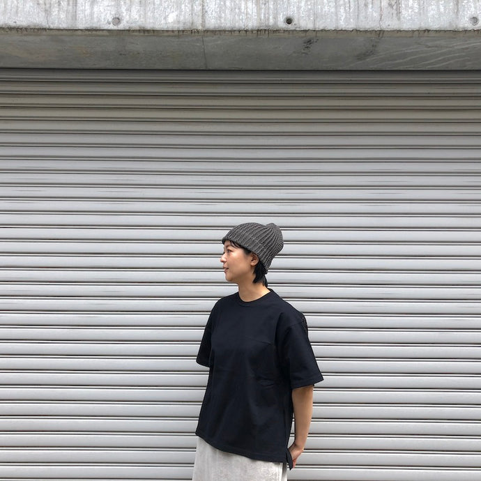 -〔MEN'S〕〔WOMEN'S〕-  mature ha マチュアーハ  SLANT CUTTING KNIT CAP LINEN