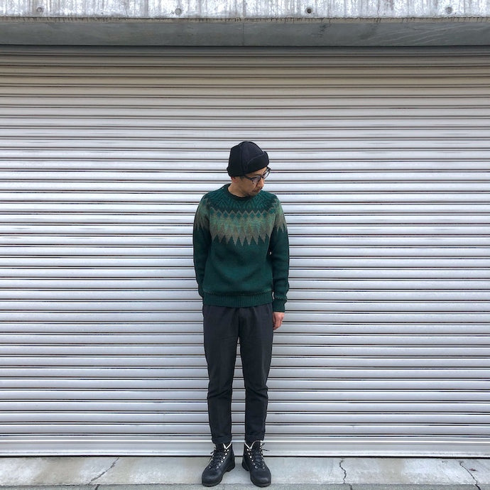 -〔MEN'S〕-  WHITE MOUNTAINEERING ホワイトマウンテニアリング  JACQUARD NORDIC ROUND NECK KNIT