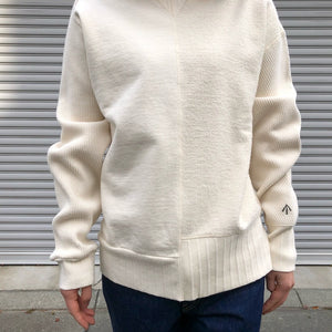 -〔WOMEN'S〕-  Nigel Cabourn ナイジェルケーボン  ARMY CREW JERSEY MIX