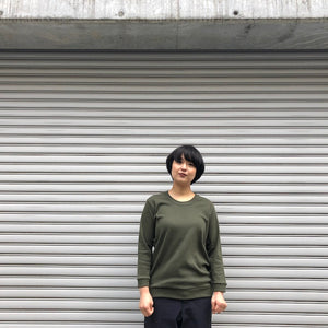 -〔WOMEN'S〕-  GICIPI ジチピ  LONG SLEEVE COTTON T SHIRT