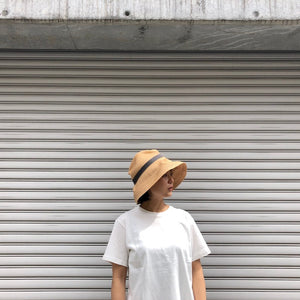 -〔WOMEN'S〕-  mature ha マチュアーハ  BOXED HAT RAFFIA 11CM BRIM MBOX-401 / MBOX-401PT