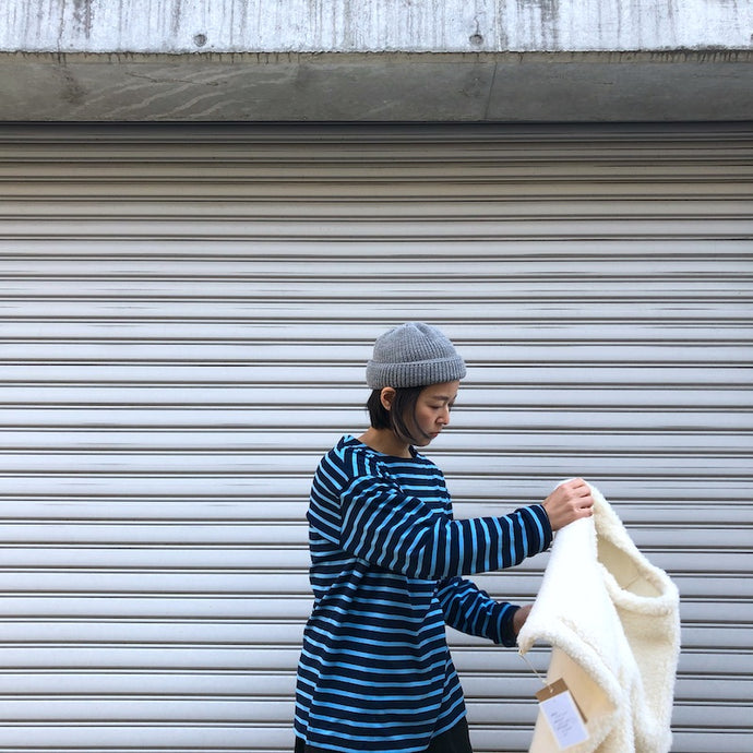 -〔WOMEN'S〕-  MODAS モダス  BORDER LONG SLEEVE DAMER SHIRT