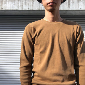 -〔MEN'S〕-  GICIPI ジチピ  LUPO COTTON CREW NECK KNIT