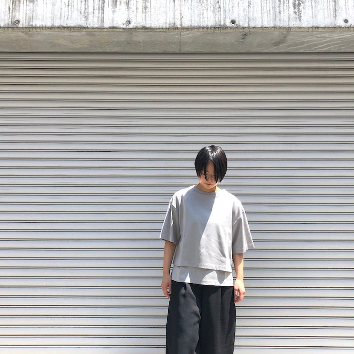 -〔WOMEN'S〕-  MY_ マイ  LAYERED T SHIRT