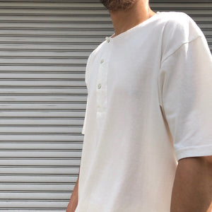 -〔MEN'S〕-  Nigel Cabourn ナイジェルケーボン   DIAGONAL HENLEY T SHIRT
