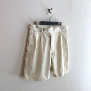 -〔MEN'S〕-  Nigel Cabourn LYBRO ナイジェルケーボン ライブロ   PLEATED SHORT HERRING BONE