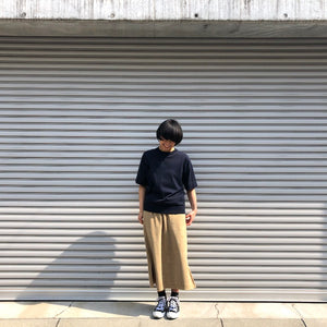 -〔WOMEN'S〕-  MY_ マイ  SUVIN GOLD SHORT SLEEVE KNIT