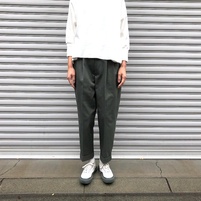 -〔WOMEN'S〕-  SCYE BASICS サイ ベーシックス   San Joaquin Cotton Chino Pleated Trouser