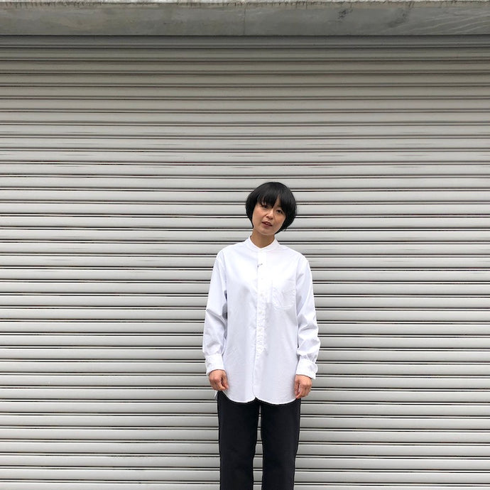 -〔WOMEN'S〕-  SCYE BASICS サイ ベーシックス  FINX COTTON GRANDED COLLAR SHIRT