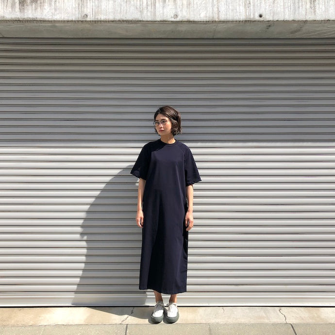 -〔WOMEN'S〕-  SCYE サイ  ORGANIC COTTON JERSEY BOX T SHIRT DRESS
