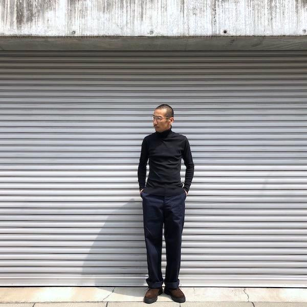 -〔MEN'S〕-  GICIPI ジチピ  TIGRE COTTON TURTLE NECK KNIT