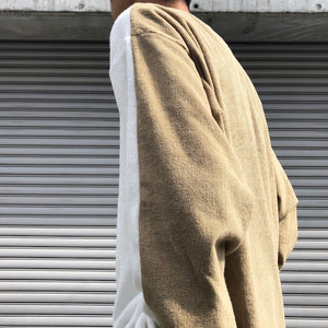 -〔MEN'S〕-  THING FABRICS シングファブリックス  BICOLOR LONG SLEEVE ORGANIC PILE JERSEY