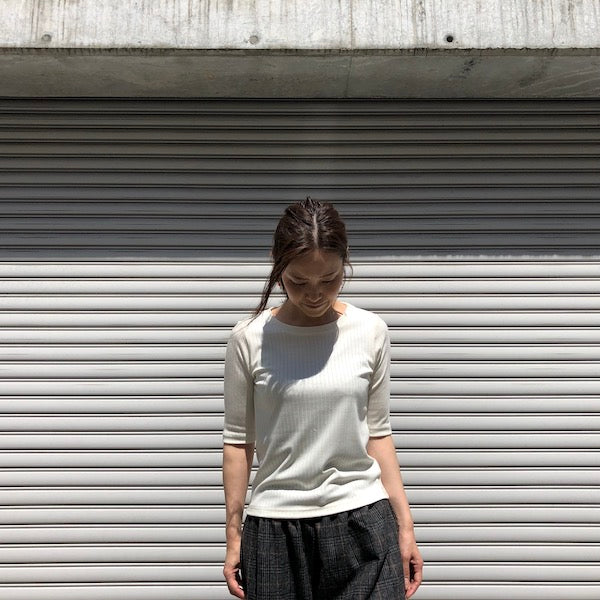 -〔WOMEN'S〕-  WHYTO ホワイト  SILK BREND PULLOVER TOP