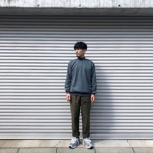 -〔MEN'S〕-  EVCON エビコン  MOCK NECK L/S T-SHIRT  LIVING CONCEPTよりEVCONへブランド名変更