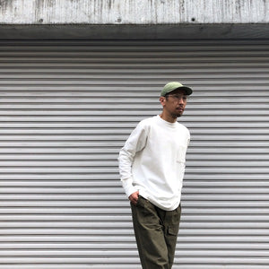-〔MEN'S〕-   Nigel Cabourn ナイジェルケーボン   40s WORK CREW NECK L/S T SHIRT