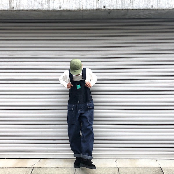 -〔MEN'S〕- Nigel Cabourn LYBRO ナイジェルケーボン ライブロ NAVAL DUNGAREE SPLIT (DENIM + MOLESKIN