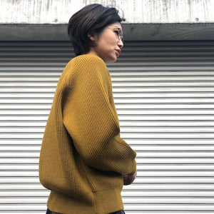 -〔WOMEN'S〕-  EVCON エビコン  LOW GAUGE CREW KNIT