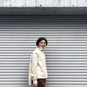 -〔WOMEN'S〕-  WHITE MOUNTAINEERING ホワイトマウンテニアリング  CONTRASTED TURTLE NECK SWEAT