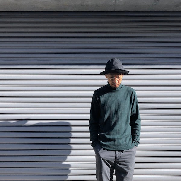 -〔MEN'S〕-  GICIPI ジチピ  COTTON CASHMERE TURTLE NECK KNIT